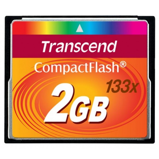 2GB Transcend CompactFlash 133x Speed Flash Memory card Image