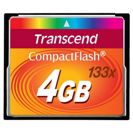 4GB Transcend CompactFlash 133x Speed Flash Memory card Image