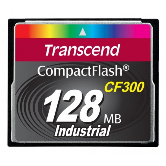 128MB Transcend CF 300X Speed SLC Industrial CompactFlash Memory Card Image