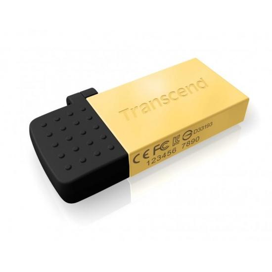 32GB Transcend Jetflash 380G OTG USB2.0 Flash Drive - Gold Edition Image
