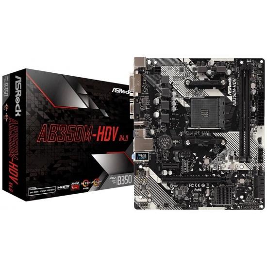 Asrock AMD B350 AM4 Micro ATX DDR4-SDRAM Motherboard Image