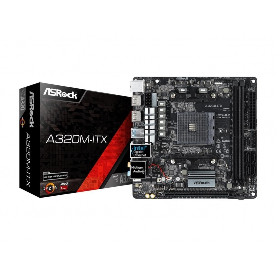 Asrock AMD A320 AM4 Mini ITX DDR4 Motherboard Image