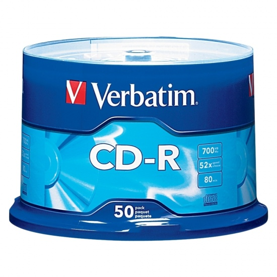 Verbatim CD-R 700MB 52X Branded 50-Pack Spindle Image