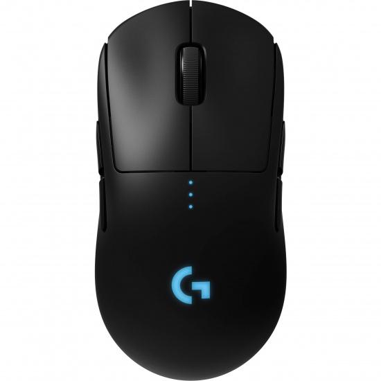 Logitech Pro 16000DPI Wireless Ambidextrous Gaming Mouse - Black/Blue Image