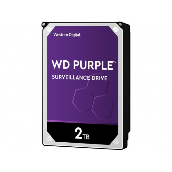 2TB WD Purple Surveillance 3.5-inch Serial ATA III 6Gbps 64MB Cache Internal Hard Drive Image
