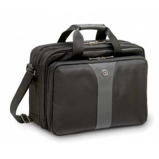 Wenger Legacy 16-inch Double Compartment Laptop Case Black/Grey Image