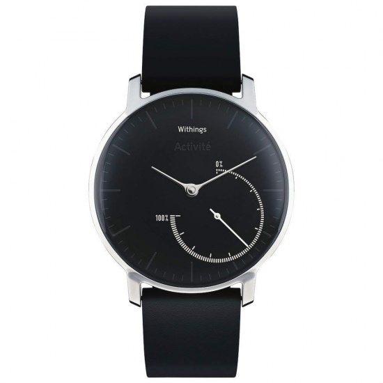 Withings Activité Steel 24/7 Automatic Activity Tracking Watch - Black/Steel Image