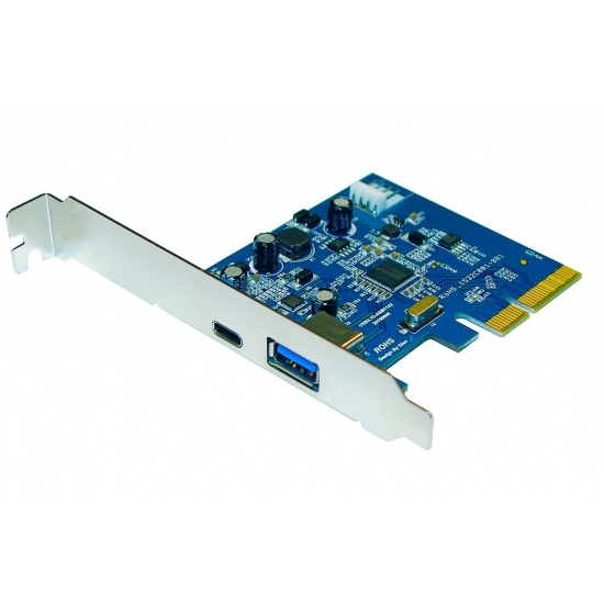 ZTC Sky USB 3.1 Add-On PCIe Card High Speed Dual C and A USB ports Image