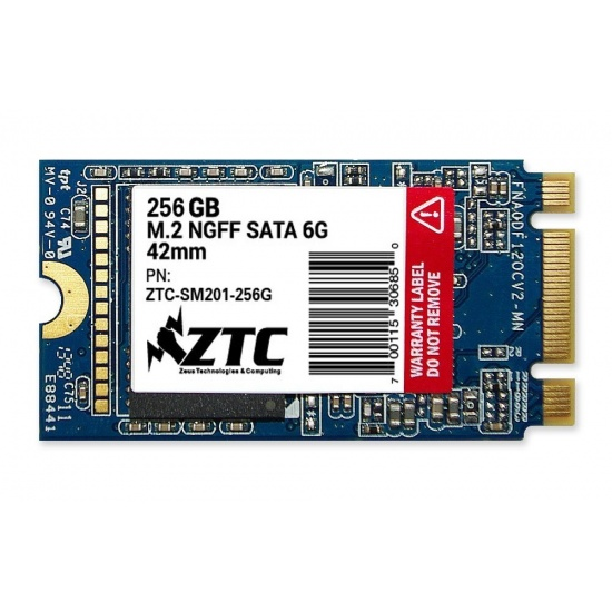 256GB ZTC Armor 42mm M.2 NGFF 6G SSD Solid State Disk- ZTC-SM201-256G Image