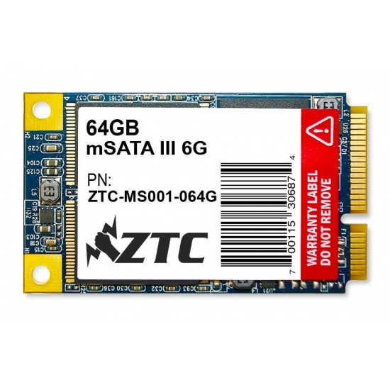 64GB ZTC Bulwark V2 mSATA 6G 50mm Solid State Disk - ZTC-MS001-064G Image