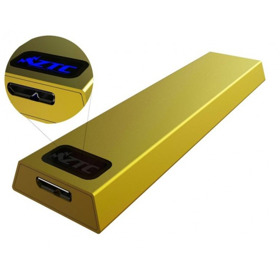 ZTC Thunder Enclosure NGFF M.2 SSD to USB 3.0 - Gold Aluminum Shell, 5 Size Board - 6GB/s Image