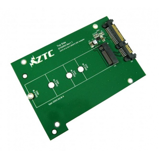 ZTC Thunder Board M.2 (NGFF) SSD to SATA III Adapter Board Image