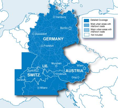 Garmin Map Alps And DACH Germany Austria Switzerland SDmicroSD - Germany map for garmin